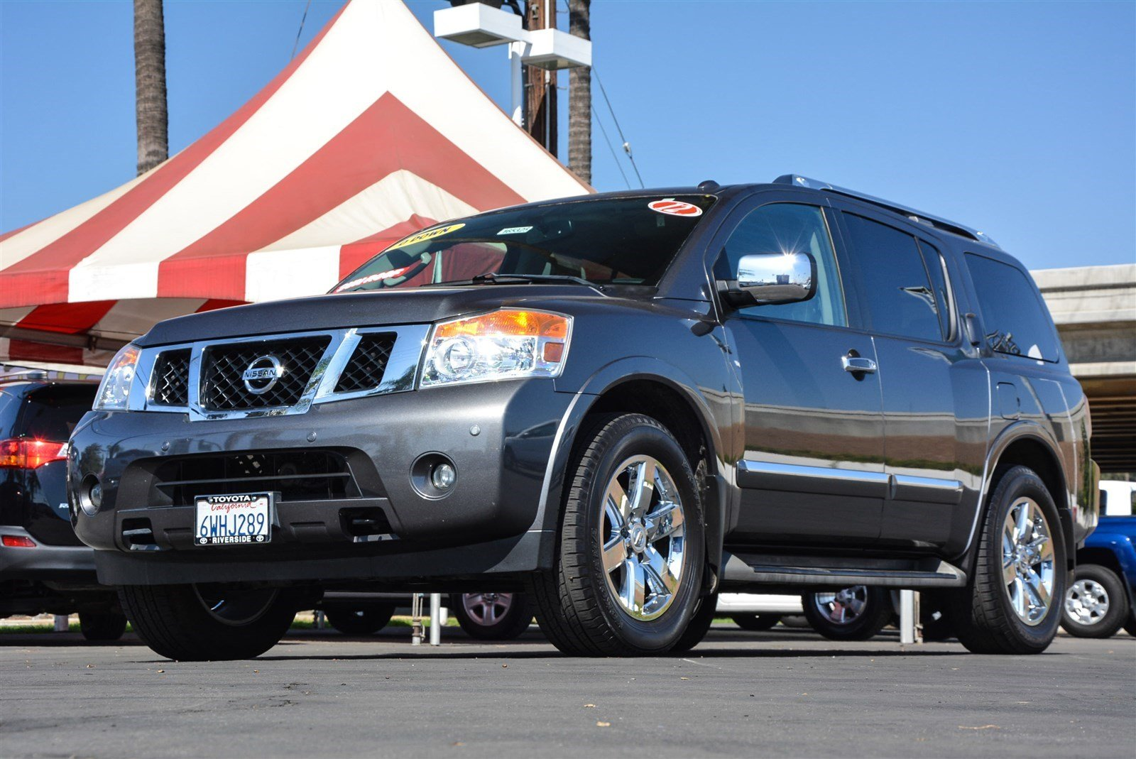 pre owned 2012 nissan armada platinum sport utility in riverside 00165325 toyota of riverside. Black Bedroom Furniture Sets. Home Design Ideas
