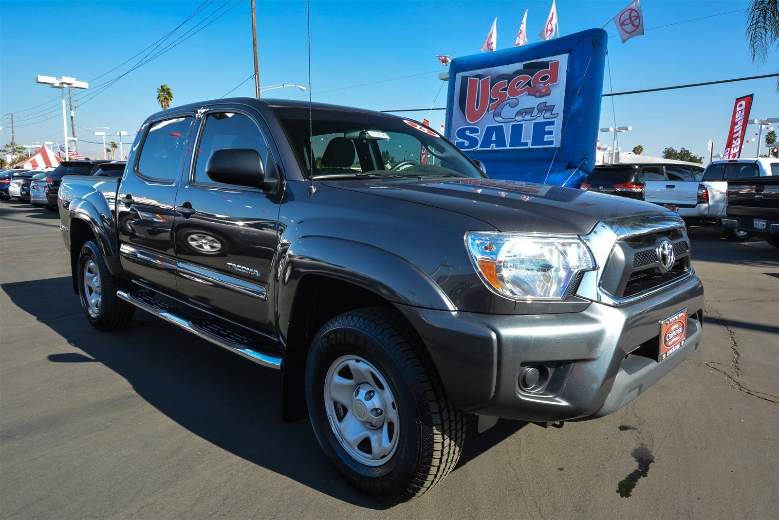 certified pre owned 2015 toyota tacoma prerunner double cab in riverside 00165699 toyota of. Black Bedroom Furniture Sets. Home Design Ideas